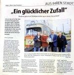 Preisübergabe zusammen mit der Rheinbahn