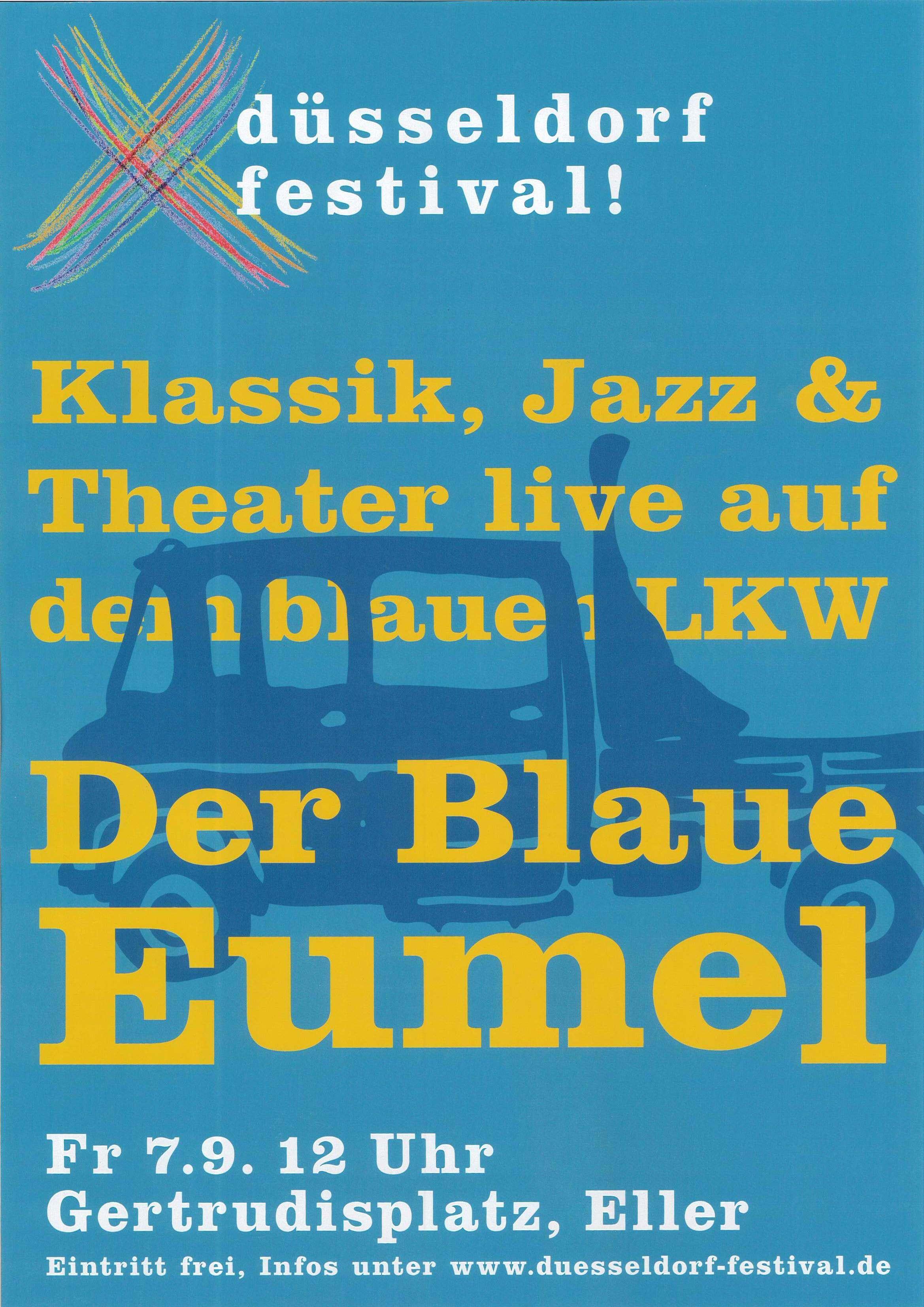 Der Blaue Eumel wieder auf dem Gertrudisplatz.