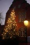 Traditionelles Tannenbaumschmücken vor dem Eller Rathaus