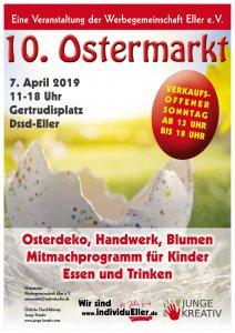 Plakat 10. individuEller Ostermarkt